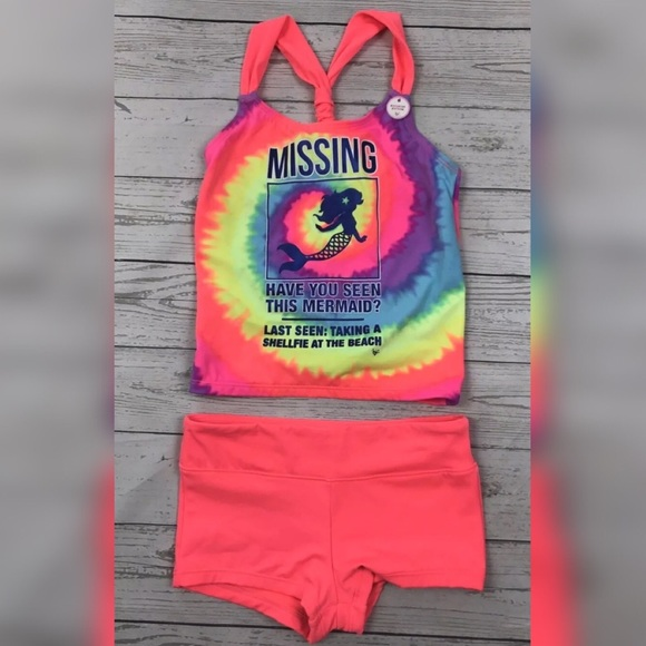 2c210ae5d5e Justice Girls Mermaid Bikini Swim Suit Set Size 8.  M_5a90317e00450f650333dd4d